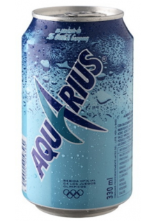 Aquarius Lemon Can 24x33cl.