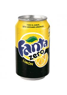 Fanta ZERO Limón Lata 24x33cl.
